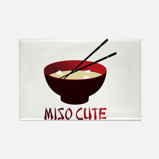 Miso Cute Rectangle Magnet