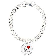 I Love my bassoon Charm Bracelet, One Charm