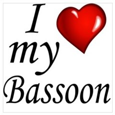 I Love my bassoon Framed Print