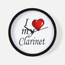 I Love my clarinet Wall Clock