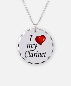I Love my clarinet Necklace