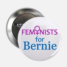 "Feminists For Bernie 2.25"" Button"
