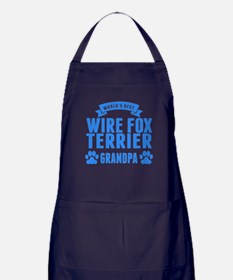 Worlds Best Wire Fox Terrier Grandpa Apron (dark)