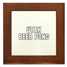 Utah Beer Pong Framed Tile