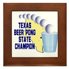 Texas Beer Pong State Champio Framed Tile