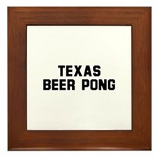 Texas Beer Pong Framed Tile