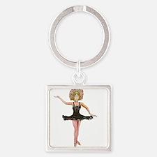 Dancer in the Black Tutu Keychains
