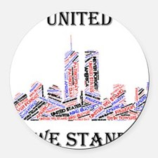 Cute United we stand Round Car Magnet