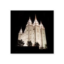Salt Lake Temple Lit Up at Night Sticker