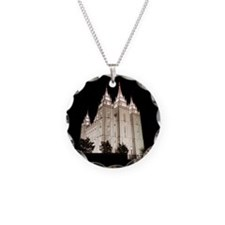Salt Lake Temple Lit Up at Night Necklace