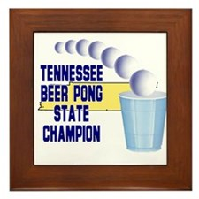 Tennessee Beer Pong State Cha Framed Tile