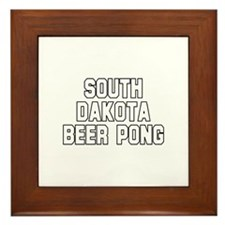 South Dakota Beer Pong Framed Tile