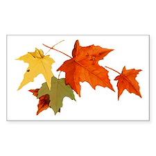 Autumn Colors Rectangle Decal