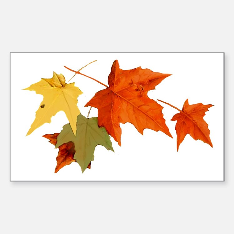 Autumn Colors Rectangle Decal