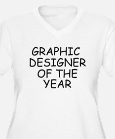Graphic Designer of the Year Plus Size T-Shirt