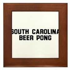 South Carolina Beer Pong Framed Tile