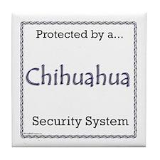 Chihuahua Security Tile Coaster