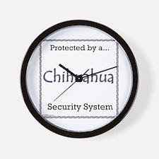 Chihuahua Security Wall Clock