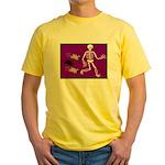 Pug-o-ween Bones Yellow T-Shirt