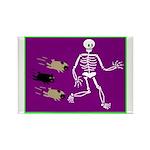 Pug-o-ween Bones Rectangle Magnet (10 pack)