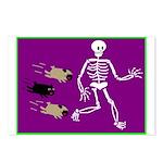 Pug-o-ween Bones Postcards (Package of 8)