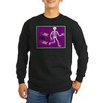 Pug-o-ween Bones Long Sleeve Dark T-Shirt