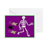 Pug-o-ween Bones Greeting Cards (Pk of 20)