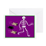 Pug-o-ween Bones Greeting Cards (Pk of 10)