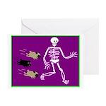 Pug-o-ween Bones Greeting Card