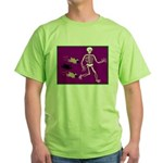Pug-o-ween Bones Green T-Shirt