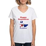 Dominican Easter Women's V-Neck T-Shirt