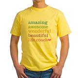 Life coach Mens Yellow T-shirts