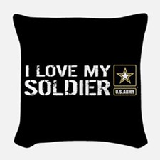 U.S. Army: I Love My Soldier ( Woven Throw Pillow