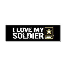 U.S. Army: I Love My Soldier (Bl Car Magnet 10 x 3