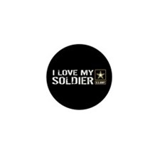 I Love My Soldier with U.S. Mini Button (10 pack)