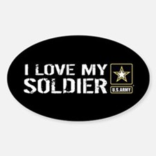 U.S. Army: I Love My Soldier (Black Decal