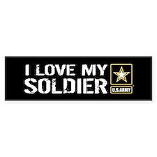 I Love My Soldier with U.S. Army Bumper Sticker
