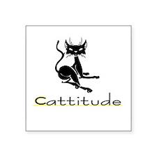 "Cute Cats Square Sticker 3"" x 3"""