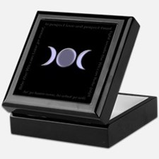 Triple Moon Goddess Wiccan Rede Keepsake Box