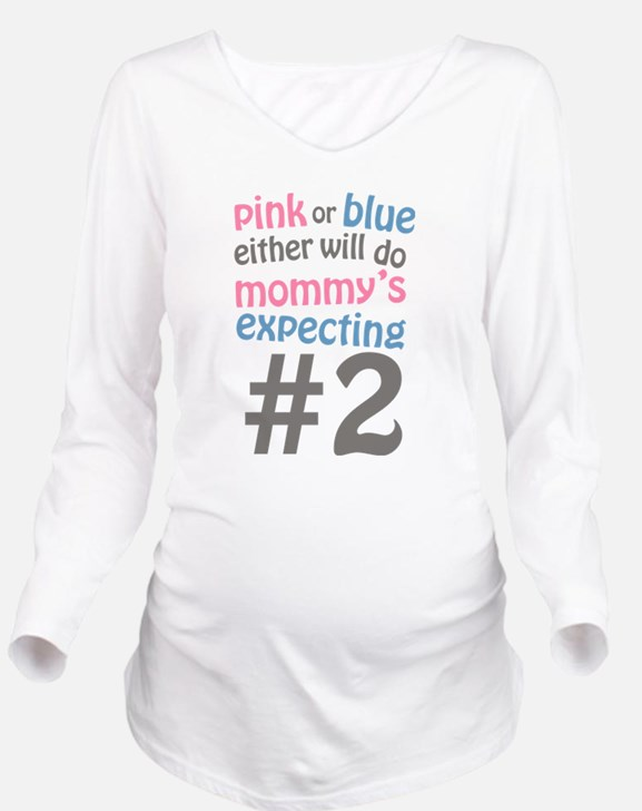 Cute Announce your pregnancy Long Sleeve Maternity T-Shirt