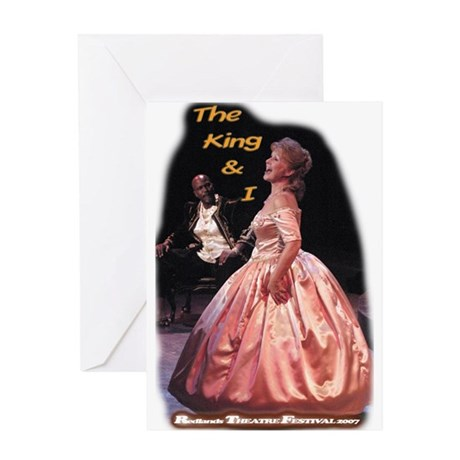 King and I Greeting Card