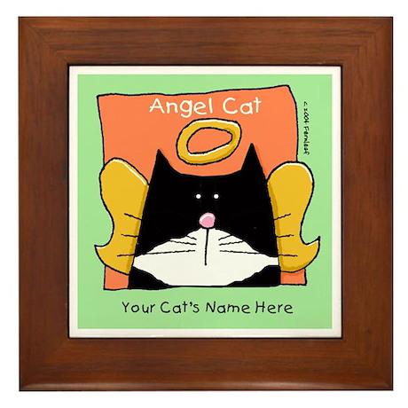 YOUR TUXEDO CAT MEMORIAL Framed Tile