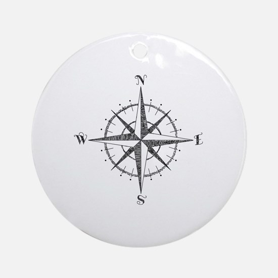 Compass Rose Round Ornament