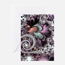 Sufi Whirl Fractal Greeting Cards