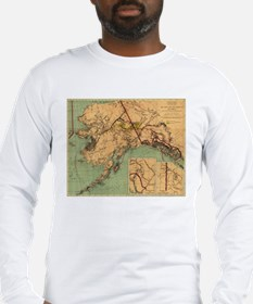 Vintage Map of Gold and Coal i Long Sleeve T-Shirt