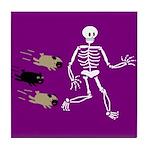 Pug-o-ween Bones Tile Coaster
