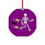 Pug-o-ween Bones Ornament (Round)