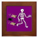 Pug-o-ween Bones Framed Tile
