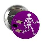 Pug-o-ween Bones Button