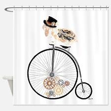 Cute Clockwork Shower Curtain